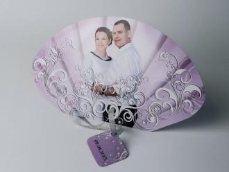 Svadbena lepeza sa fotografijom (poleđina)