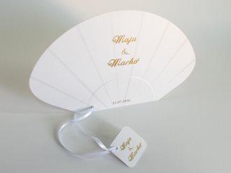 elegantne i jednostavne - lepeze za venčanja u jednoj boji