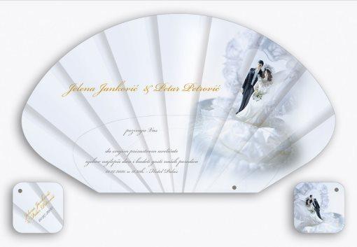 Tipsko rešenje 03 svadbene lepeze (samo izmenite imena i datum)