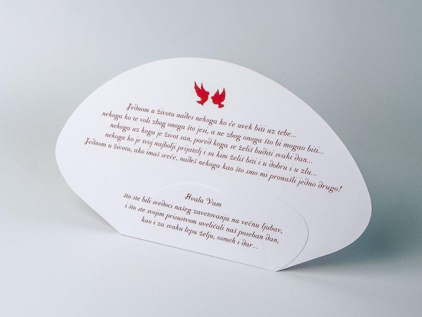 Svadbena lepeza u jednoj boji (poleđina), za venčanja
