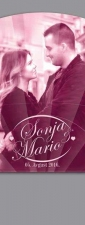 """Svadbena lepeza u jednoj boji """"Sonja i Mario"""" (lepeze za venčanja)"""