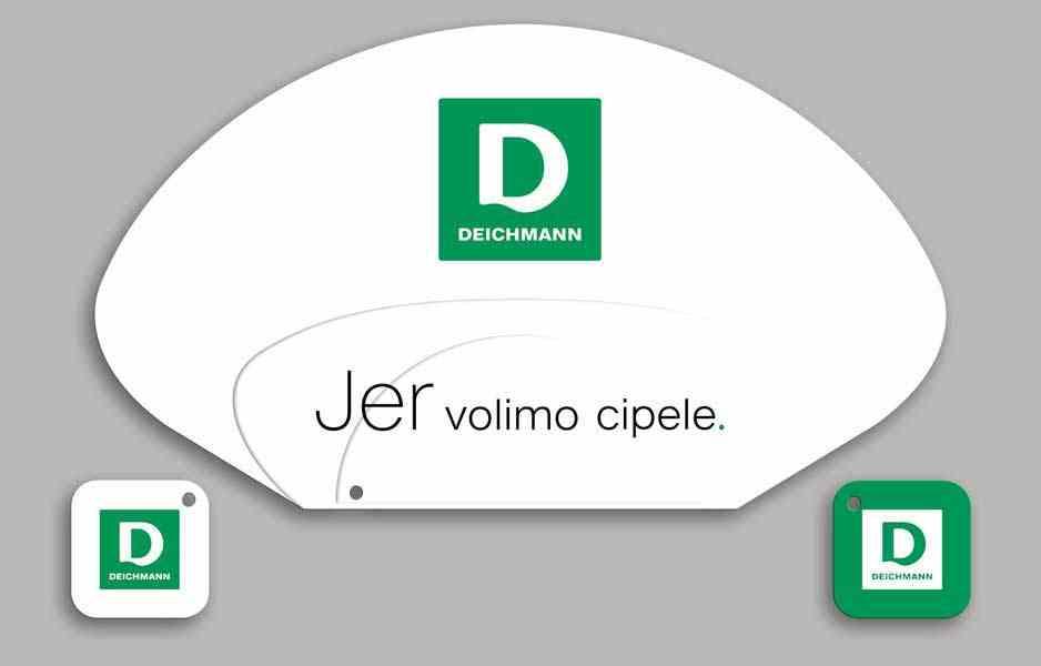 "Promo lepeze ""deichmann"" (bela strana)"