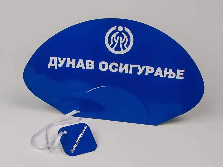 """Reklamne lepeze """"Dunav Osiguranje"""" plava 2"""
