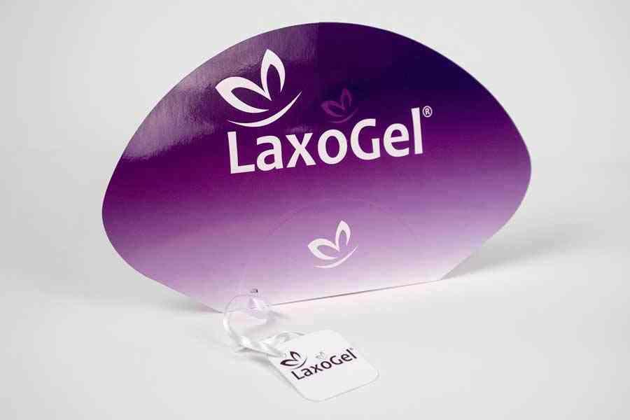 """Promo lepeze """"Laxogel"""" (dvobojne)"""