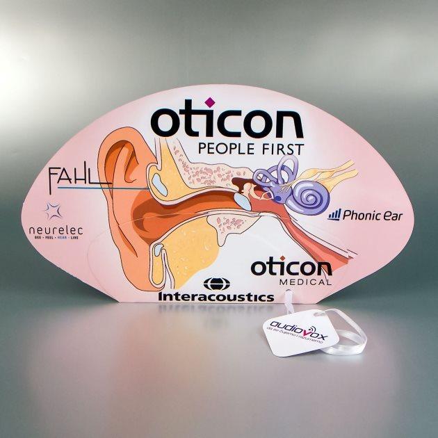 """Reklamne lepeze """"Oticon"""" (Audiovox)"""