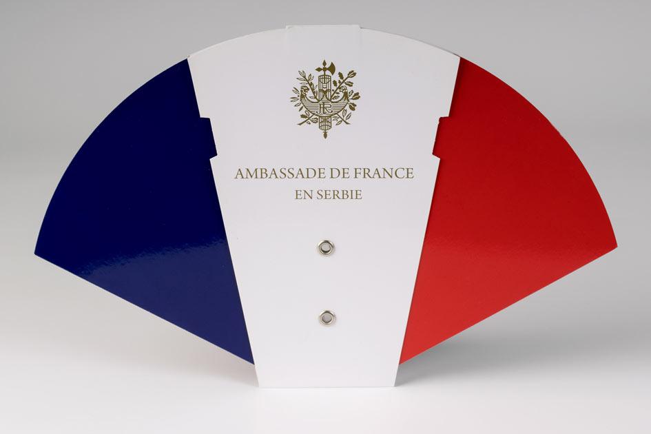 Sklopiva lepeza ambasada Francuske