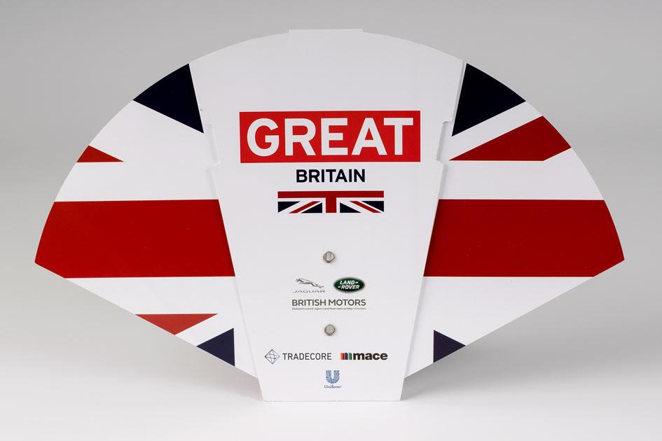 Sklopiva lepeza ambasada Velike Britanije